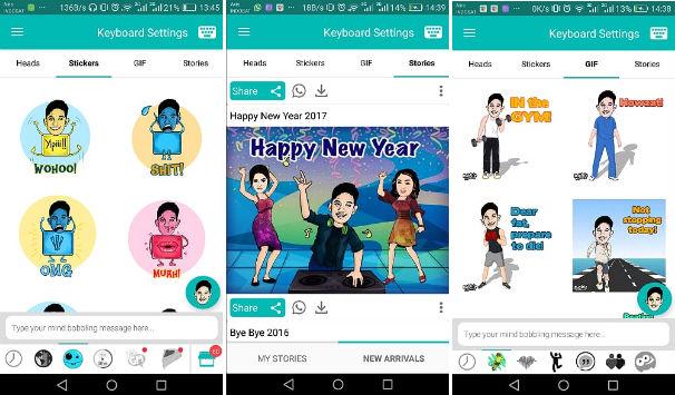Aplikasi Bobble Bisa Ubah Wajah Pengguna Menjadi Sticker Lucu