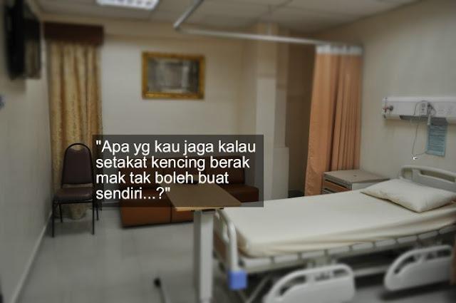 Nurse, Mak Saya Berak – Teguran Doktor Buat Anak Kononnya Mahu Menjaga Ibu Sakit Tapi Sebenarnya..