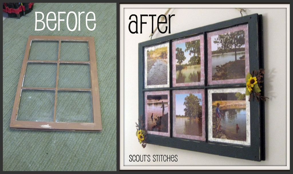 All The Joy: Distressed Window Frame Picture Frame