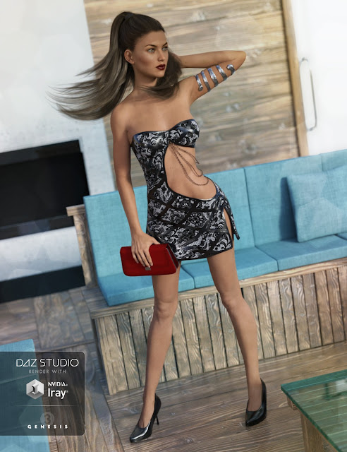 Club Night Outfit for Genesis 3 Female