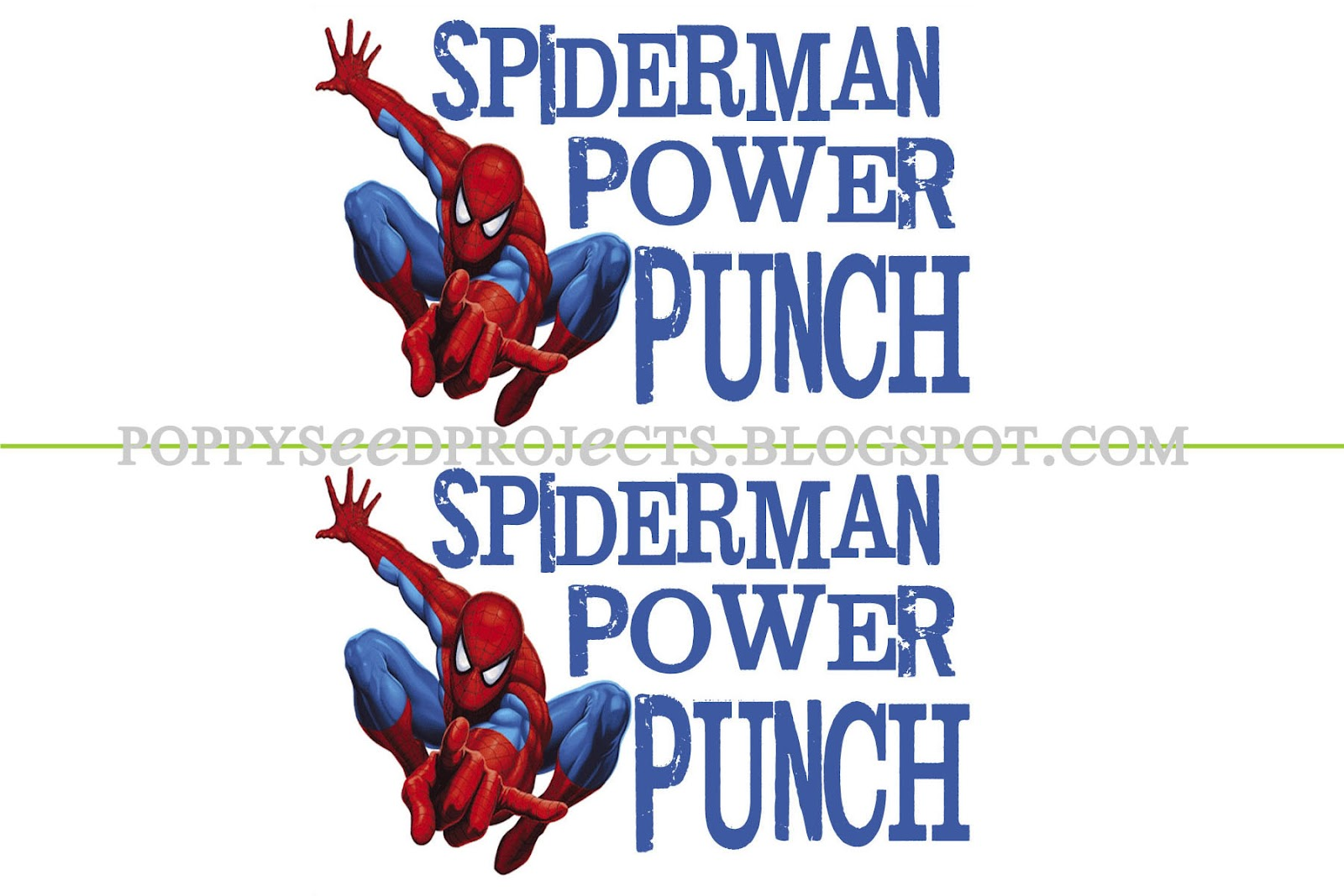 Poppy Seed Projects Spiderman Birthday Party Freebie