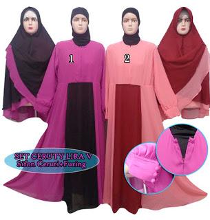 Gamis syar'i modern set jilbab bergo cantik harga satuan Rp. 190.000