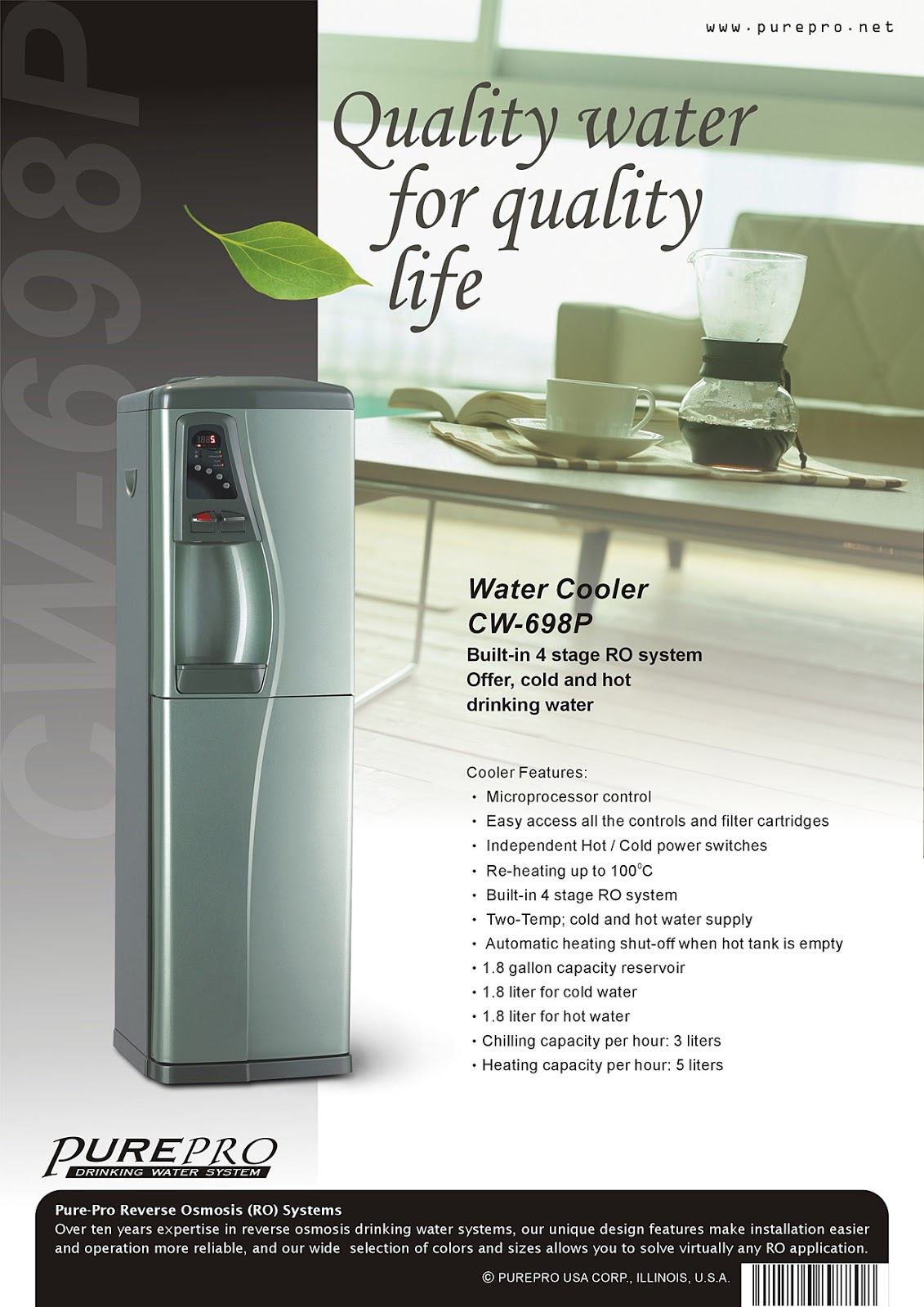 PurePro® CW698-P Reverse Osmosis Water Filtration System