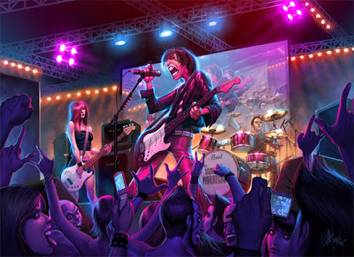 Ilustración de un concierto
