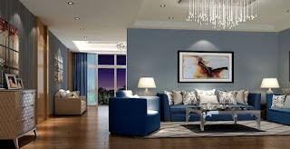 Sala-decoração-azul