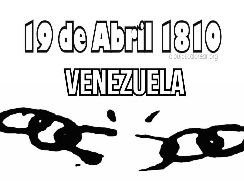 Venezuela Colorear 19 Abril Dibujos Colorear