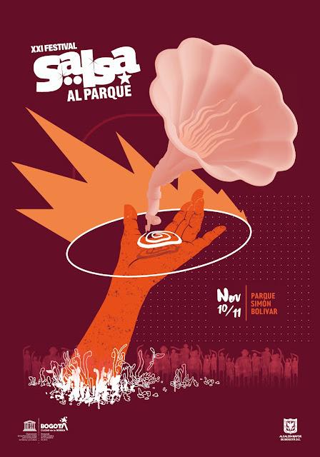 Afiche Salsa al Parque 2018