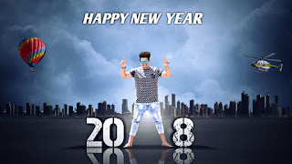 Happy New Year - 2018 || PicsArt Photo Editing || PicsArt Manipulation Editing Tutorial