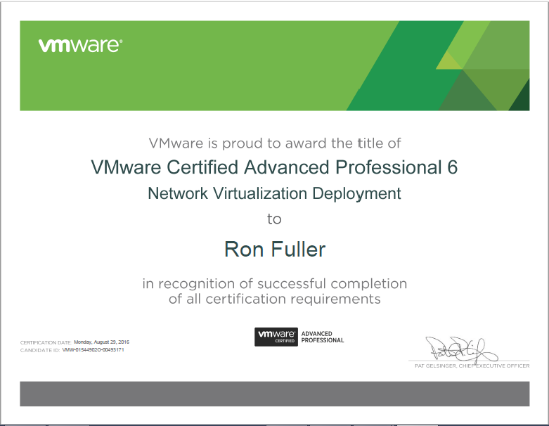 CCIE5851: Benefits of VMware Certification
