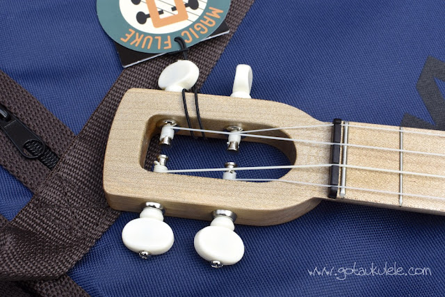 Magic Fluke Tenor Banjo Ukulele headstock