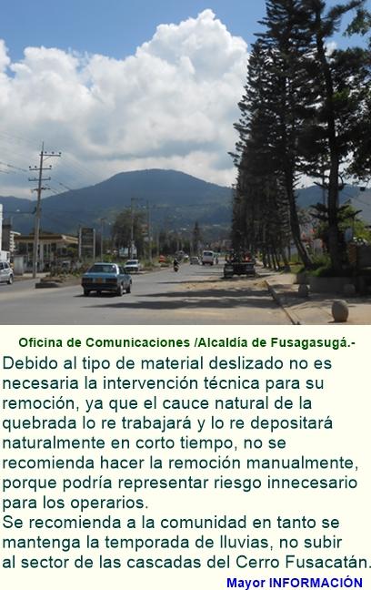 Tranquilidad arroja resultado visita técnica al Cerro Fusacatán