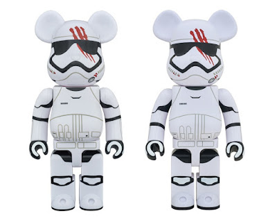 Star Wars: The Force Awakens FN-2187 400% & 1,000% Be@rbrick Vinyl Figures by Medicom Toy