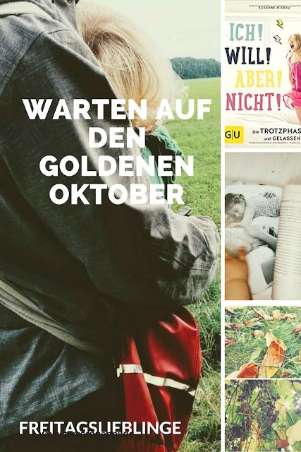Pinterest Grafik zu Warten auf den Goldenen (Blog) Oktober