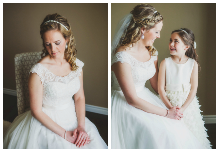 pearl headpieces for bride and flowergirl photography: Kate Pennings hair: Taming Rapunzel