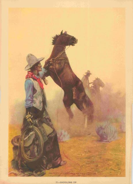 Gayle Hoskins - A Cowboy's Day #2 Saddling Up