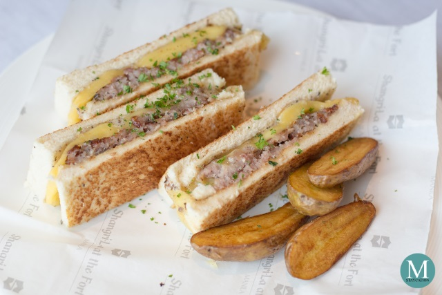 Breakfast Bikini Sandwich at the Horizon Club Lounge of Shangri-La at the Fort, Manila