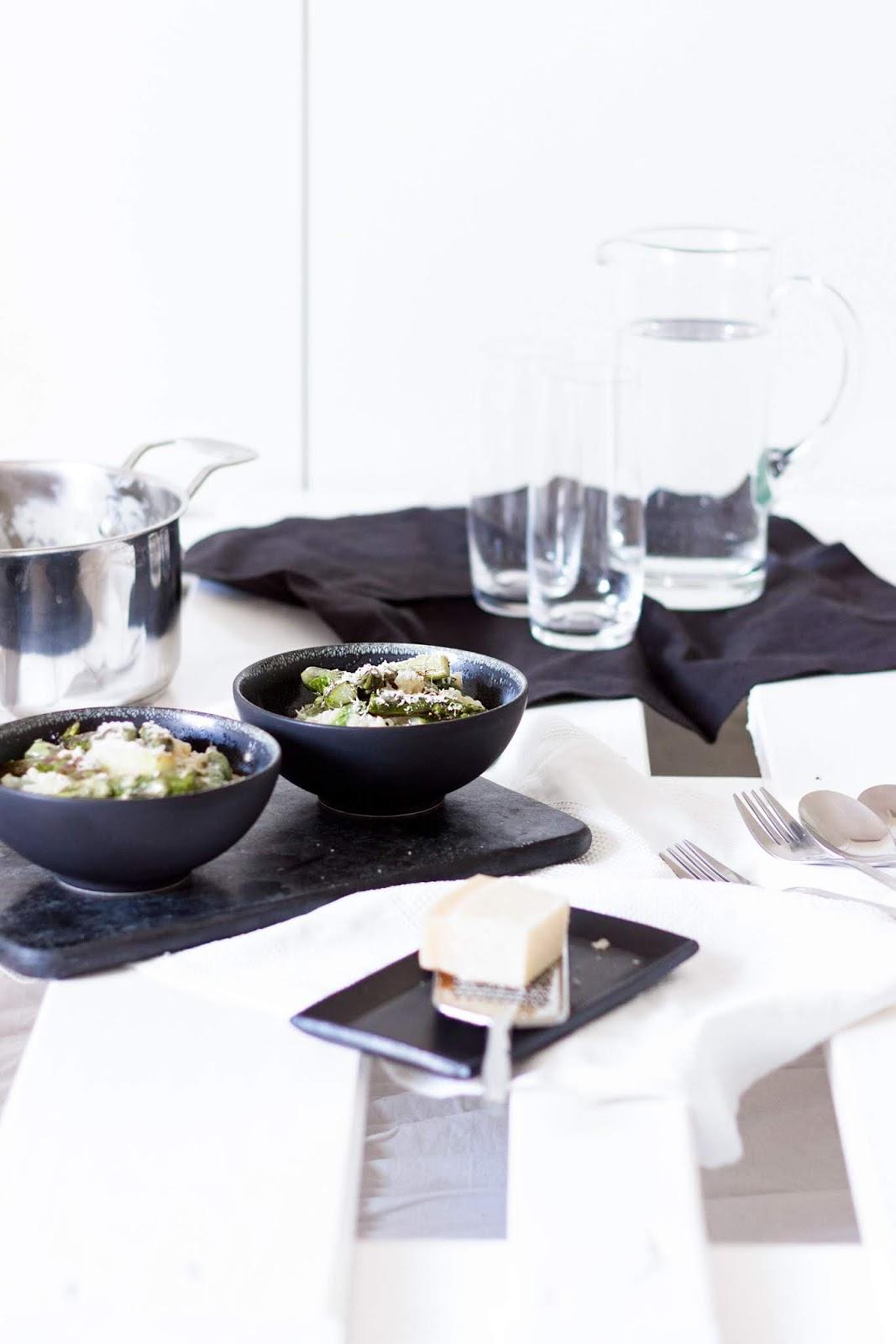 Recipe | Risotto mit grünem Spargel | www.sparklyinspiration.com