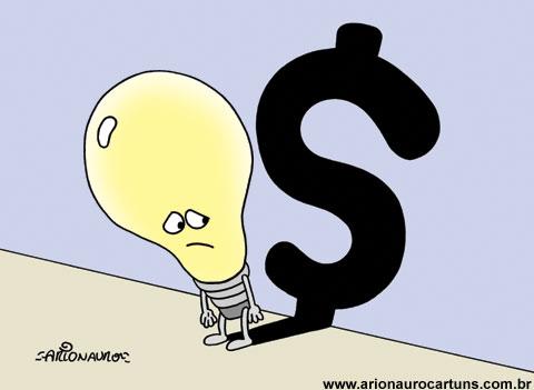 ARIONAURO CARTUNS - Blog do Cartunista Arionauro: Charge Energia Elétrica