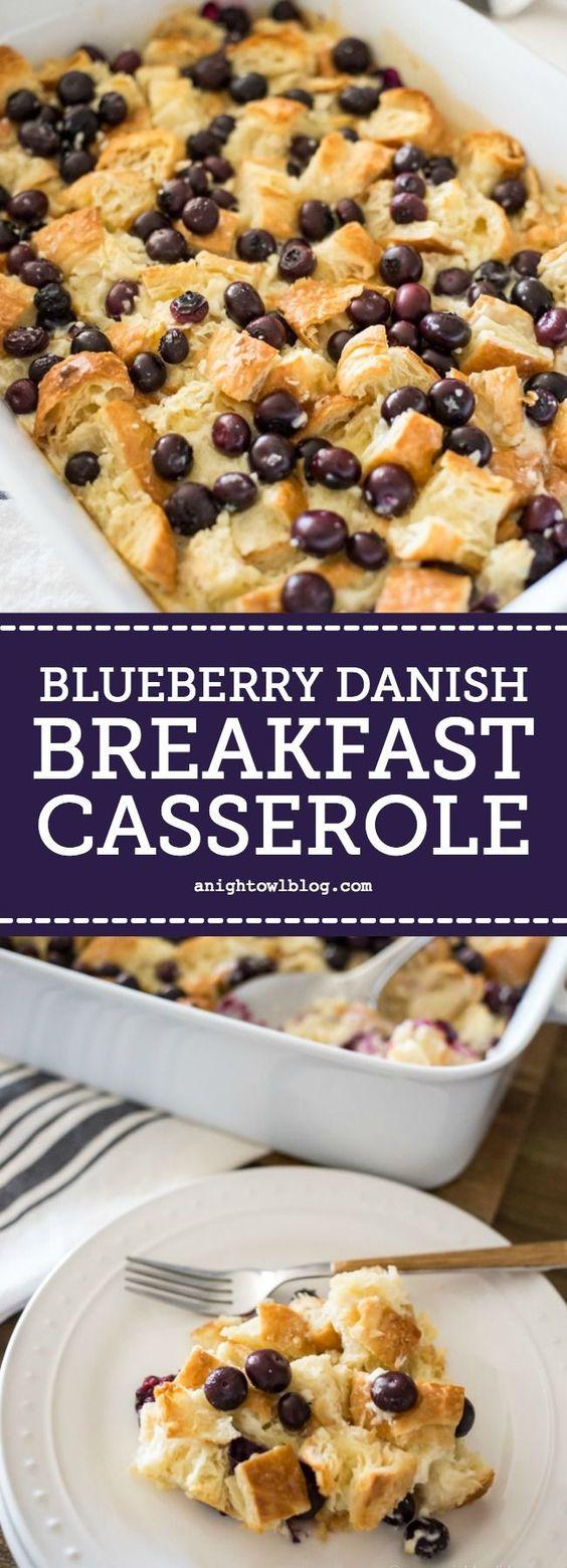 Easy Blueberry Danish Breakfast Casserole Recipe