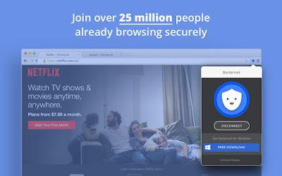 اليكم البرنامج المحتكر Betternet Free VPN  للكمبيوتر وللاندرويد برابط مباشر