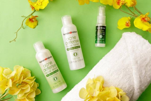 human nature acne defense cleanser toner gel