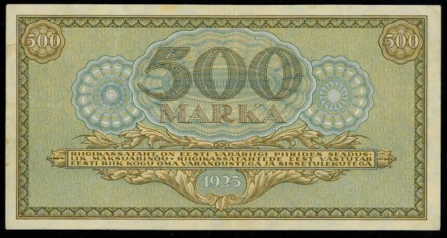 Estonia 500 Marka Banknote 1923