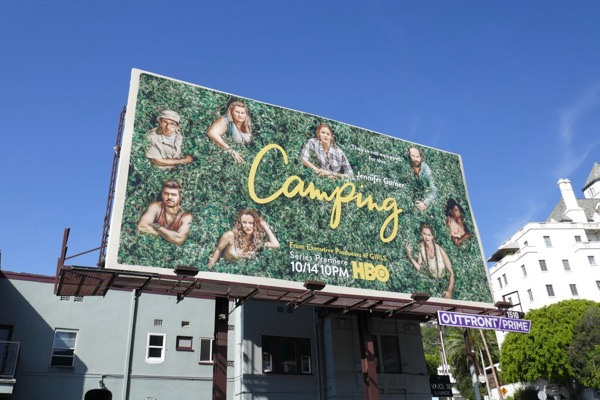 Camping series premiere billboard