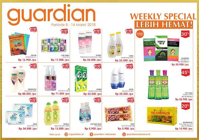 Katalog Promo GUARDIAN Weekly Specials Periode 08 - 14 Maret 2018