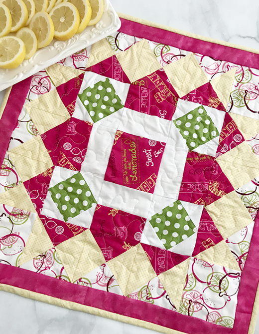 Homemade Lemonade Table Topper Free Tutorial