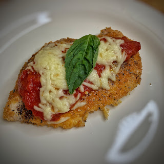 chicken parm, low carb, keto, lchf, recipes, ketogenic, ketosis, dinner, italian, ketones, atkins, pork rinds, chicken parmiagiana