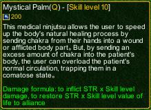 naruto castle defense 6.0 Stunade Mystical Palm detail