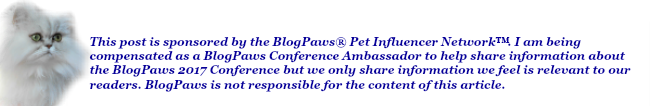 Disclosure - compensated by BlogPaws as an Ambassador