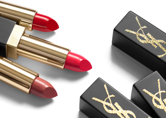 Yves Saint Laurent YSL Rouge Pur Couture Lipsticks Gold Attraction Edition Holiday 2018 Review Swatches