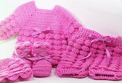 4 - Majovel crochet Pantalones crochet a juego con la chambrita a relieve