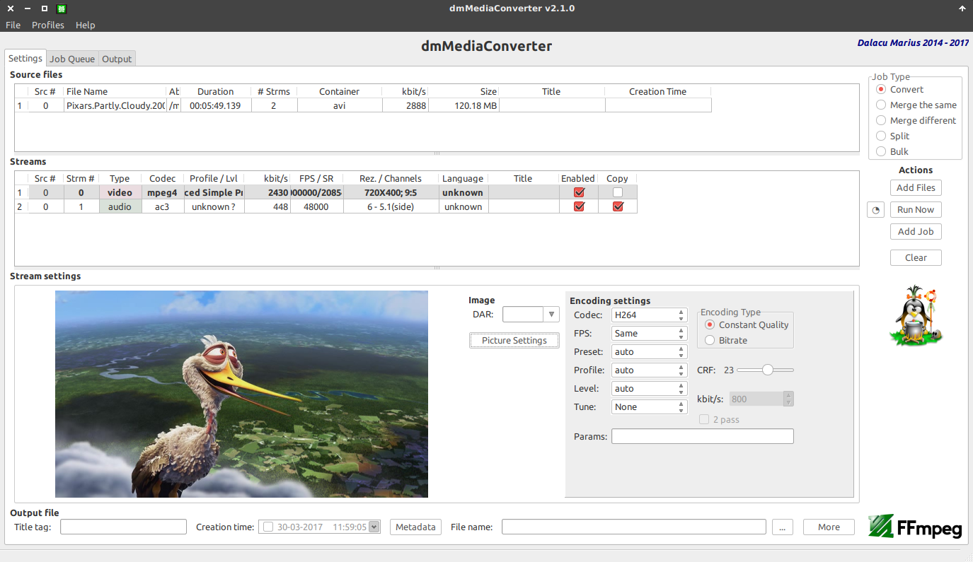 dmMediaConverter v2 1 0 - FFmpeg GUI [Linux/Windows/Mac (wine))]