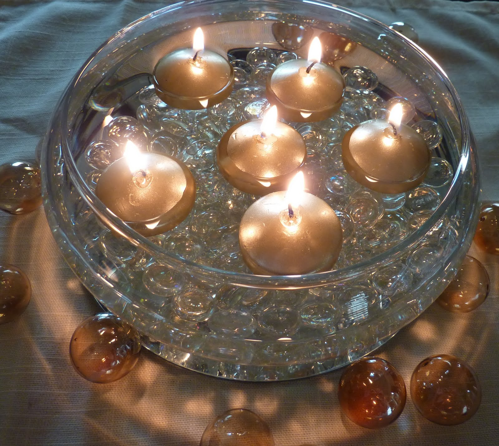 Fall Floating Candle Centerpieces: Creative Hospitality: How To Make A Floating Candle