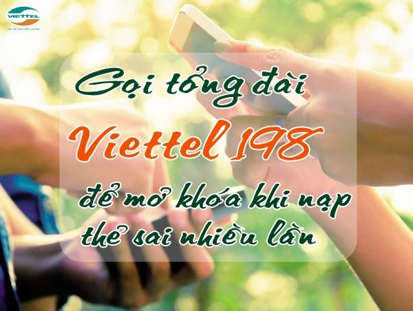 Làm thế nào để mở khóa sim Viettel khi nạp thẻ sai nhiều lần?