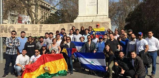 ¡No más dictaduras! Honran a víctimas de Bolivia, Nicaragua, Venezuela y Cuba