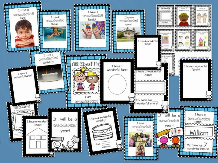 http://www.teacherspayteachers.com/Product/All-About-Me-Lets-Make-a-Book-137599