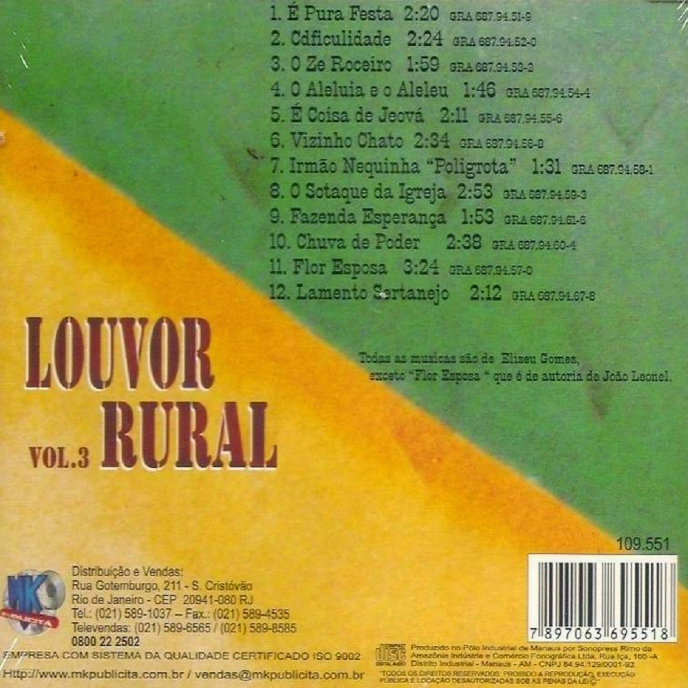 cd gospel louvor rural