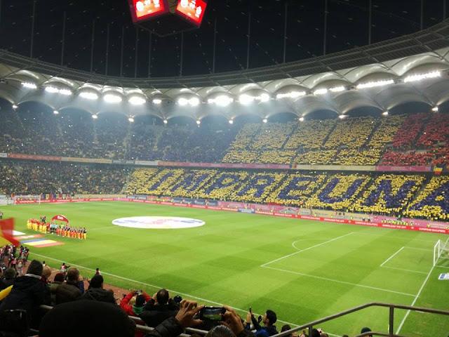 meci Romania - Polonia, vedere de la Tribuna 1