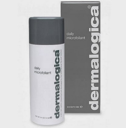 Blackish and greyish bottle of Dermalogica Microfoliant product
