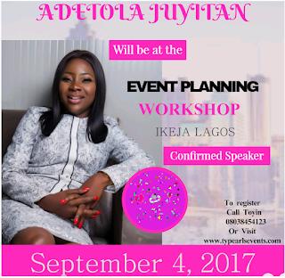 Adetola Juyitan :Entrepreneur (Glitz events center )