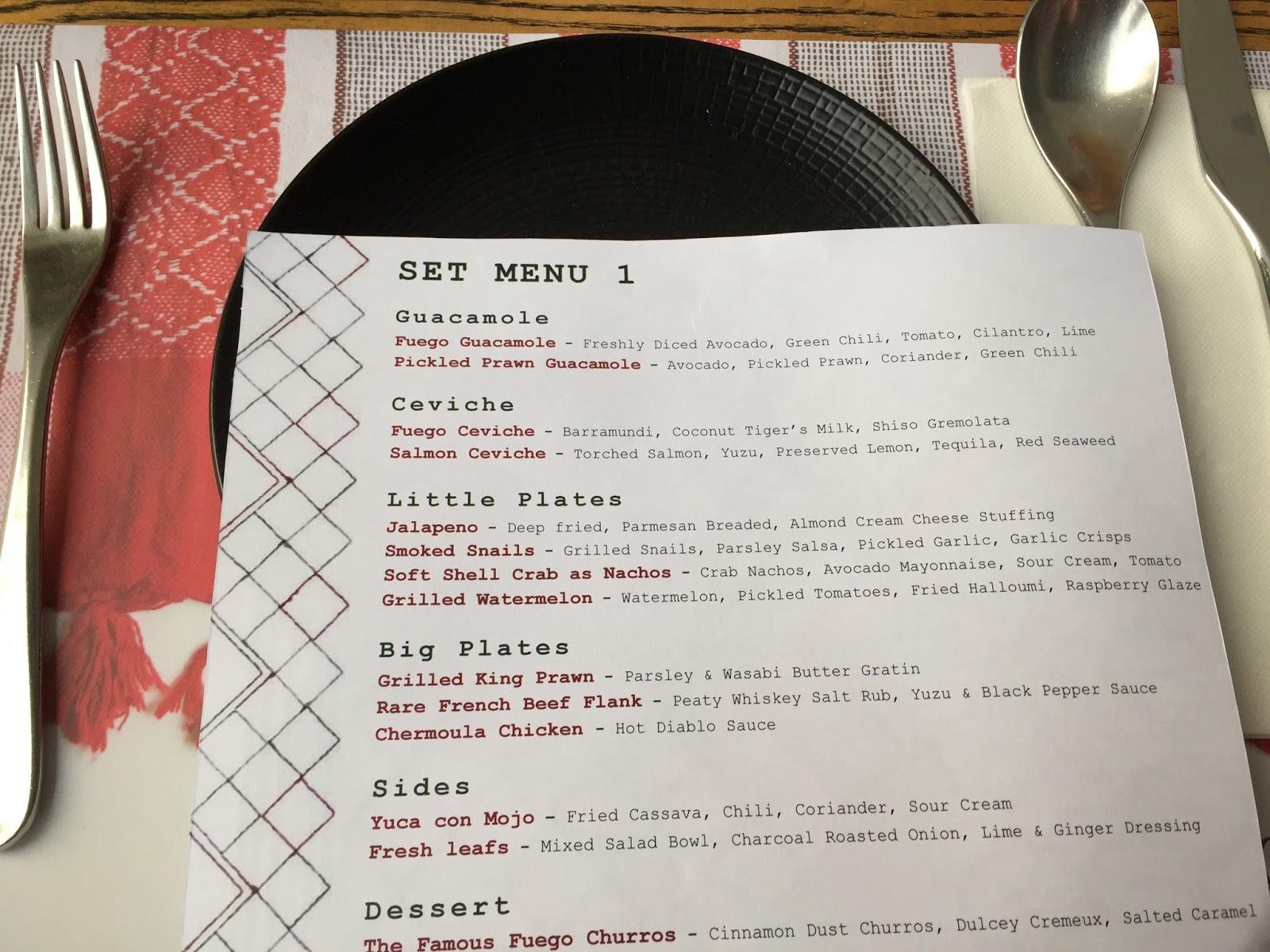 fuego kl menu price