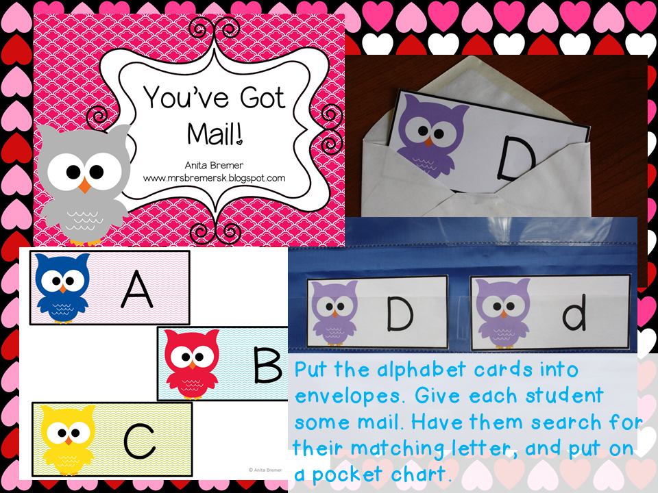 FREE Valentine's Day alphabet literacy activity