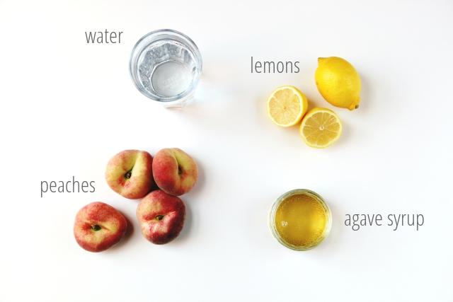 Sweet and Simple Peach Lemonade Recipe.
