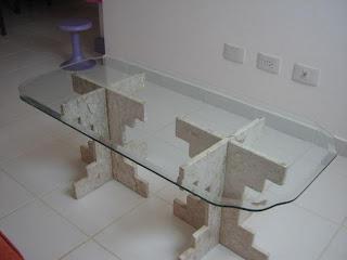 foto mesa de vidro lapidada e modelada