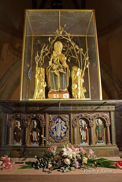 Imagen de la Virgen de Valvanera