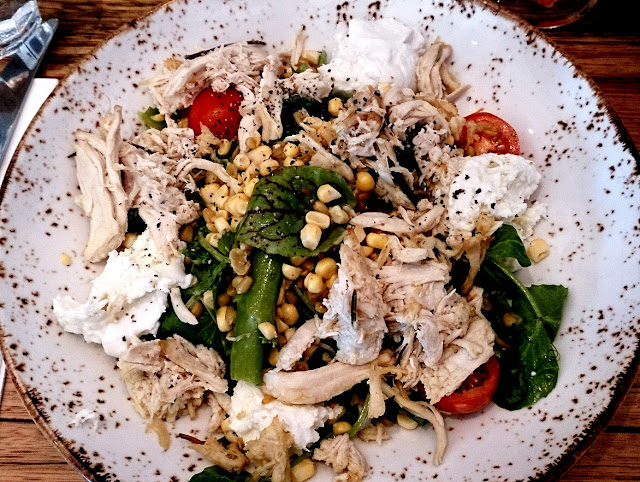 The Resident, poached chicken salad