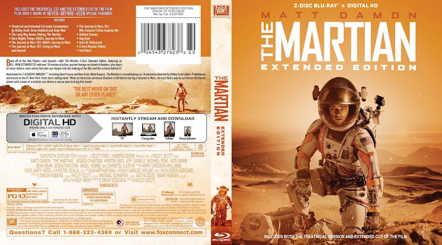 The Martian Extended Edition Bluray Cover